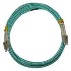 Lynn 1 meter LC-LC 10 Gig OM3 Fiber Cable, Duplex, PC, OFNR Rated Aqua Jacket